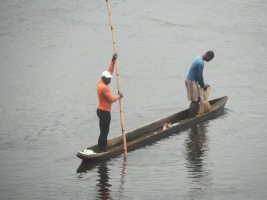 local fishermen on Nyong river