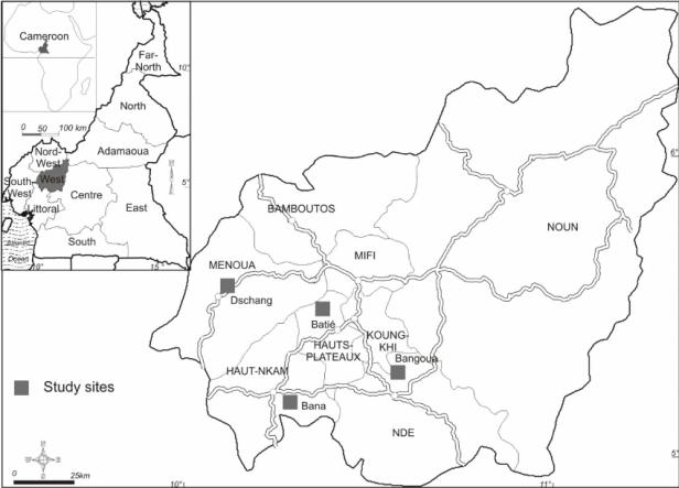 figure-1-the-sampling-sites-in-the-west-region-of-cameroon